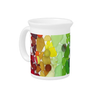 Rainbow Sea Glass Pitcher