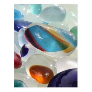 Rainbow Sea Glass Postcard