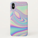 """Rainbow Sea Holographic Iridescence iPhone X Case<br><div class=""""desc"""">Groovy,  baby!   One-piece,  clip-on protective case that's slim and lightweight.  Fair warning- this is a color print with a holographic look,  meaning that the products will not actually be shiny,  plasticy,  iridescent,  ect. It doesn't have the actual shine,  but it's got the lovely,  dreamy aesthetic of holo print.</div>"""