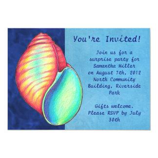 Rainbow Sea Shell Invitation