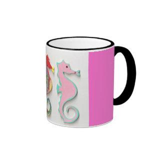 RAINBOW SEAHORSES COFFEE MUGS