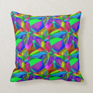 Rainbow seamless pattern bright all-over design pillow