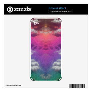 Rainbow Seas Decal For iPhone 4