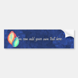 Rainbow Seashell Bumper Sticker
