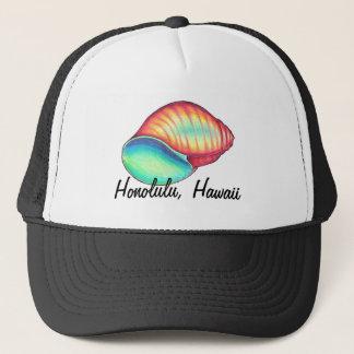 Rainbow Seashell Hat