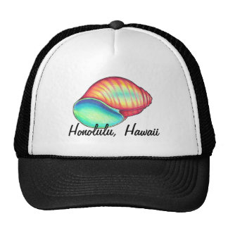 Rainbow Seashell Hat