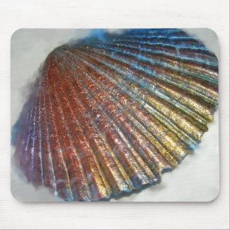Rainbow Seashell Mouse Pad