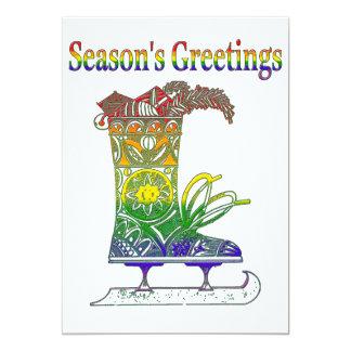Rainbow Season's Greetings Card