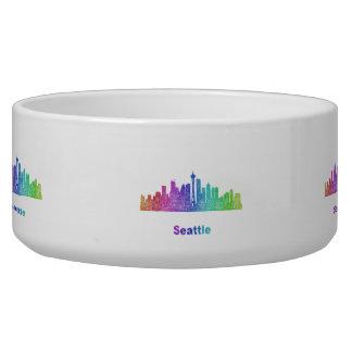 Rainbow Seattle skyline Bowl