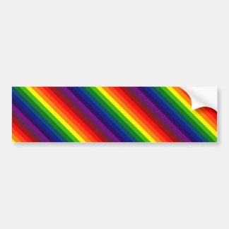 RAINBOW SELECT ~ (stripe design) ~ Bumper Sticker