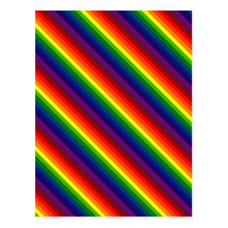 RAINBOW SELECT (stripe design) ~ Postcard