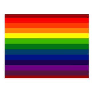 RAINBOW SELECT stripe design Postcard