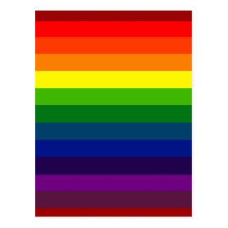 RAINBOW SELECT ~ (stripe design) ~ Postcard