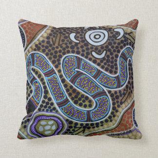 Rainbow Serpent Pillow Cushion