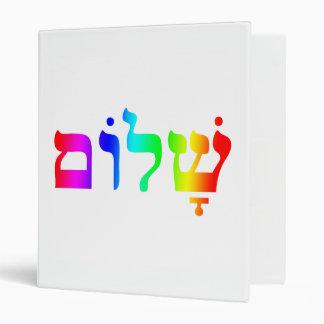 Rainbow Shalom Binder
