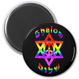 Rainbow Shalom Magnets