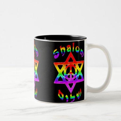 Rainbow Shalom Mugs