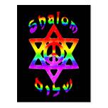Rainbow Shalom Postcard
