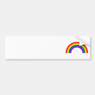 Rainbow Shape Bumper Sticker