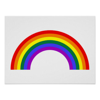 Rainbow Shape Poster