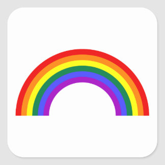 Rainbow Shape Square Sticker