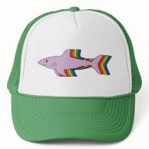 Rainbow Shark Trucker Hat