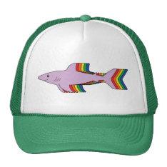 Rainbow Shark Trucker Hat at Zazzle