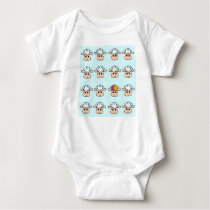 rainbow sheep baby bodysuit