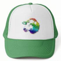 Rainbow Sheep Lamb With Shadows Drawing Trucker Hat
