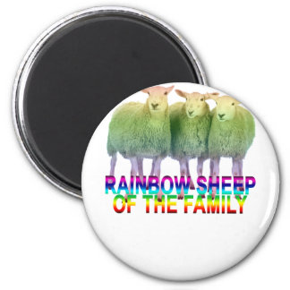 Rainbow Sheep of the Family . Magnet