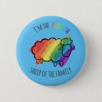 Rainbow Sheep Pin