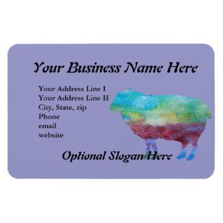 Rainbow Sheep Rectangular Photo Magnet