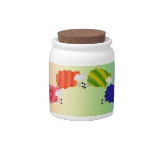 Rainbow Sheep Yarn Fund Jar Candy Jars