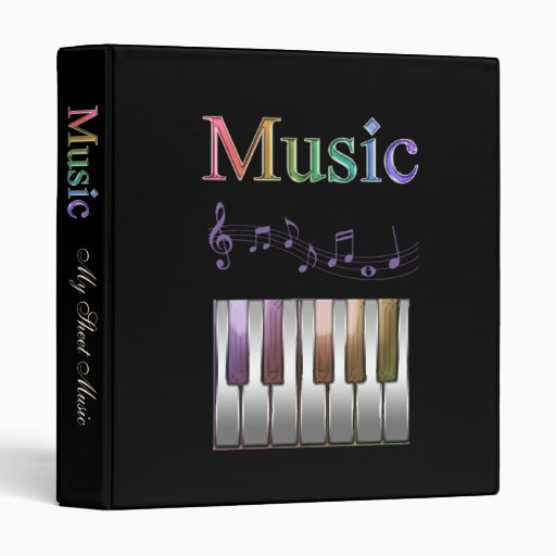 rainbow sheet music binder