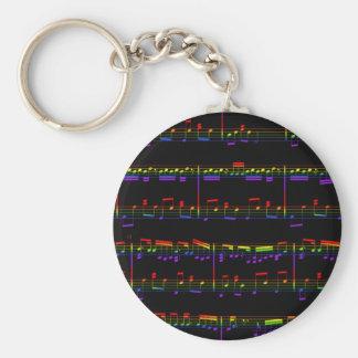 Rainbow Sheet Music Keychain