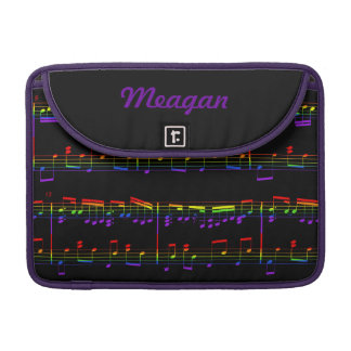 Rainbow Sheet Music MacBook Sleeve