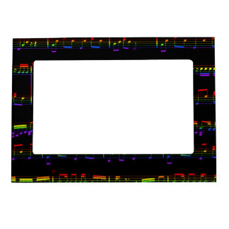 Rainbow Sheet Music Magnetic Picture Frame