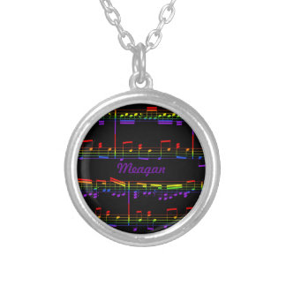 Rainbow Sheet Music Necklace