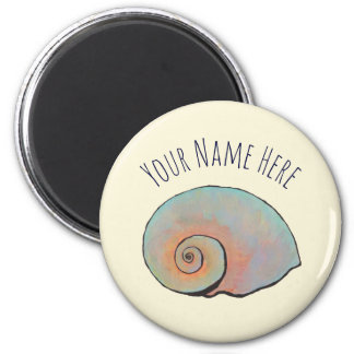 Rainbow Shell Spiral Magnet