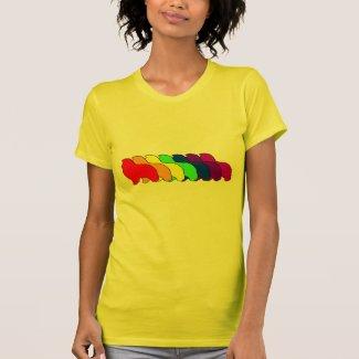 Rainbow Sheltie Tshirt