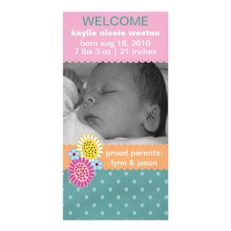 Rainbow Sherbert Birth Announcement Photo Card