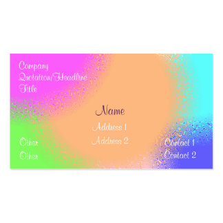 Rainbow Sherbert Double-Sided Standard Business Cards (Pack Of 100)