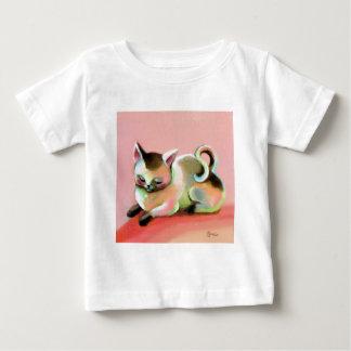 Rainbow Sherbert Kitty Kat Baby T-Shirt