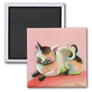 Rainbow Sherbert Kitty Kat Magnet