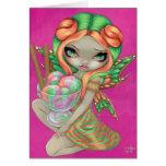 """Rainbow Sherbet Fairy"" Greeting Card"