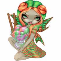 art, fantasy, rainbow sherbet, rainbow, sherbet, sherbert, ice, cream, ice cream, ice cream fairy, sundae, dessert, fairy, sweet, tooth, pink, orange, green, goth, gothic, eye, eyes, big eye, big eyed, jasmine, becket-griffith, becket, griffith, jasmine becket-griffith, jasmin, strangeling, artist, gothic fairy, faery, fairies, faerie, fairie, lowbrow, low brow, Photo Sculpture with custom graphic design