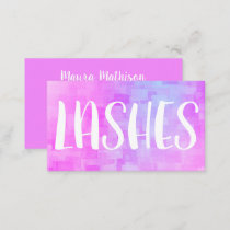 Rainbow Shimmer Makeup Artist Lashes Business Card