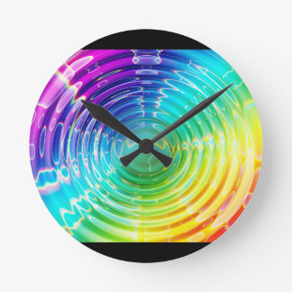 Rainbow Shockwave Round Clock