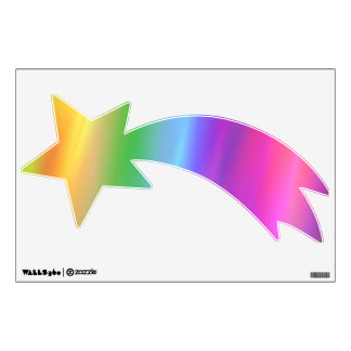 Rainbow Shooting Star Wall Decal