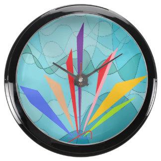 Rainbow shoots aqua clock
